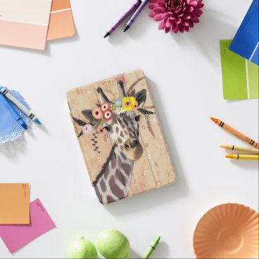 Klimt Giraffe | Crown Of Flowers iPad Mini Cover