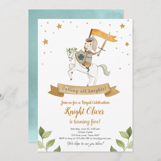 knight royal medieval boy birthday invitation zazzle com