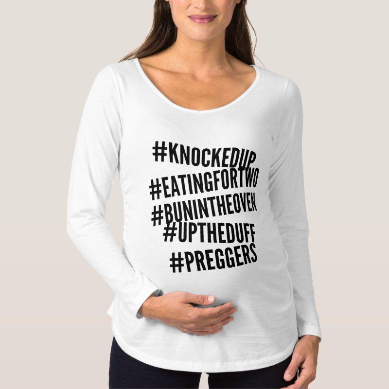#knockedup hashtag tshirt