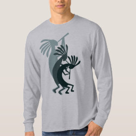 Kokopelli Gets Down Green tshirt