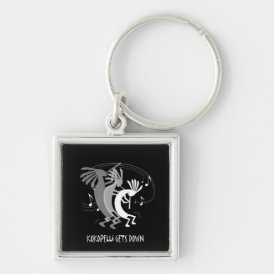 Kokopelli Gets Down Music KeycChain Keychain