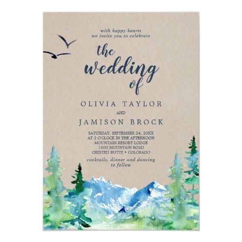 Kraft Rocky Mountain Destination The Wedding Of Invitation