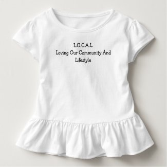 L.O.C.A.L Black and White Toddler T-shirt