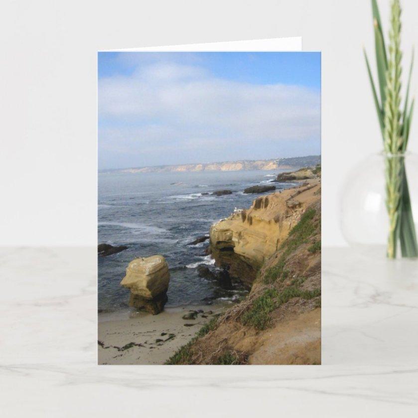 La Jolla Cove Beach Seabirds Custom Greeting Cards