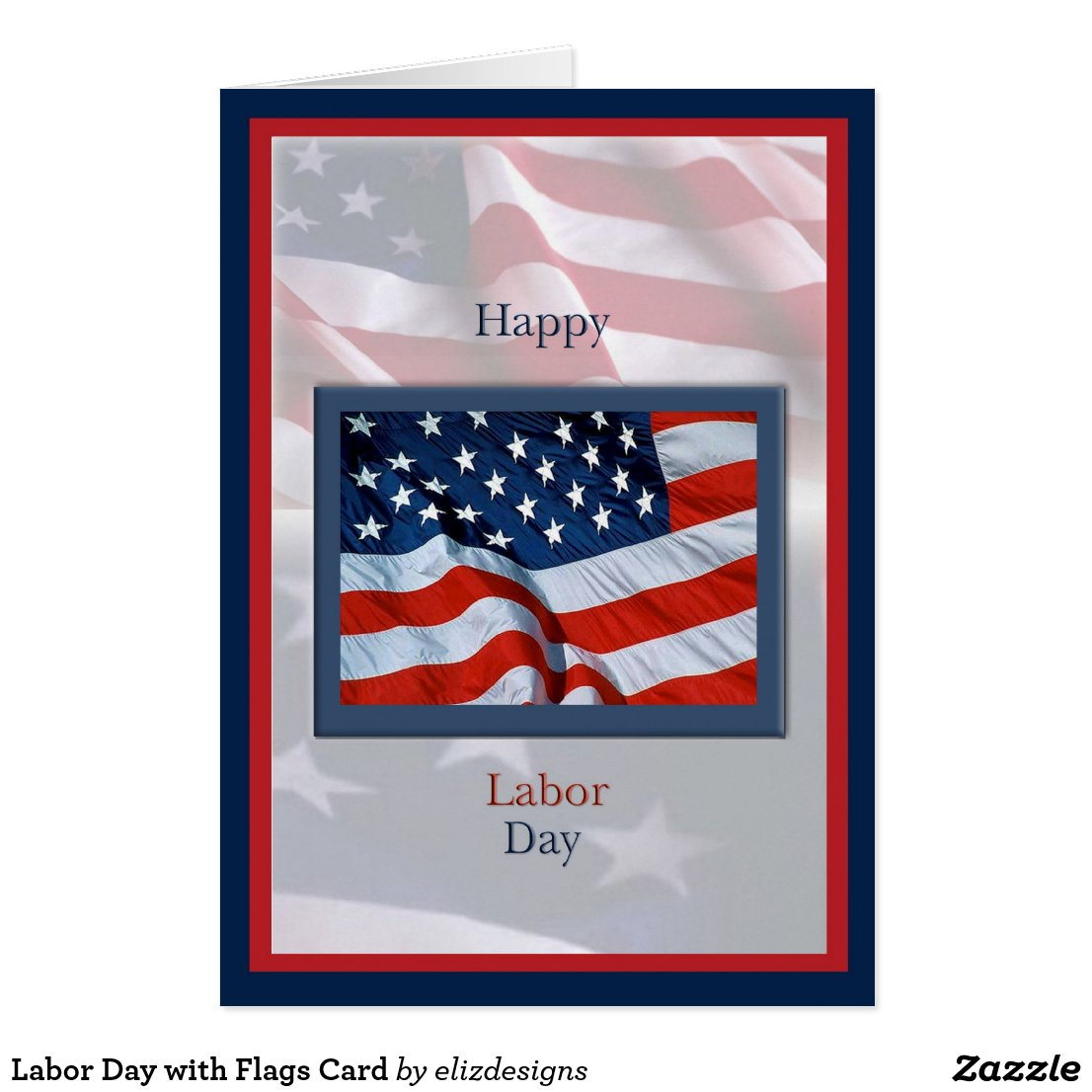 Labor Day with Flags Card