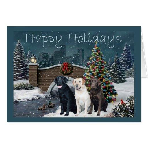 Labrador Retriever Christmas Card Evening11 Zazzle