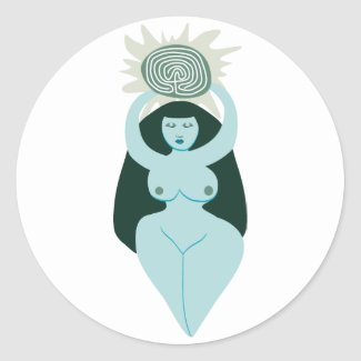 Labyrinth Goddess sticker