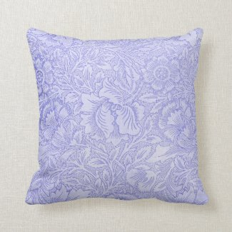 Lace Wallpaper Blue Throw Pillow
