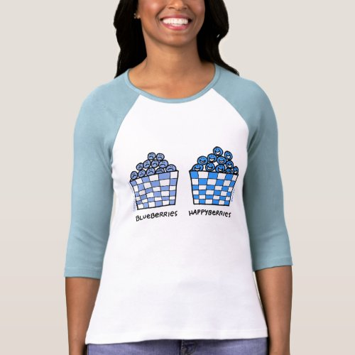 Ladies Cute Funny Blueberries Lovers Tee Shirt shirt