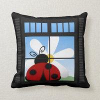 Ladybug American MoJo Pillow