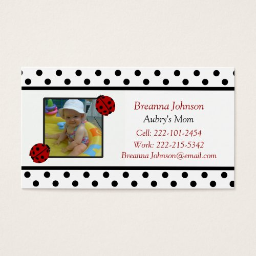 Ladybug: Mom Contact Card