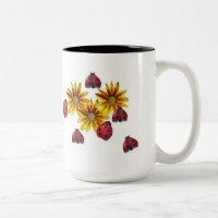 Ladybug Party Two-Tone Coffee Mug