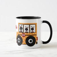 Ladybug School Bus Teacher Mug