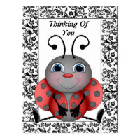 Ladybug Thinking Of You Postcard