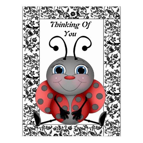 Ladybug Thinking Of You Postcard