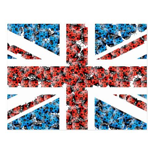 Ladybug UK Postcard