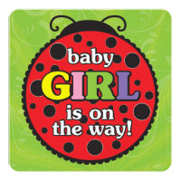 Ladybugs Baby Shower Invitation