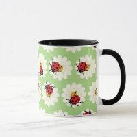 Ladybugs pattern mug