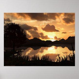 Lake Sunset print