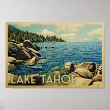 vintage lake tahoe posters prints