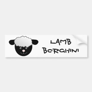 Lamb Borghini funny Sheep Pun Car Bumper Sticker