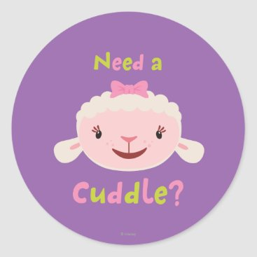 Lambie - Need a Cuddle Classic Round Sticker
