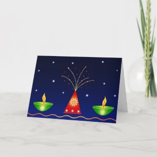 Lamps and Fireworks - Card card