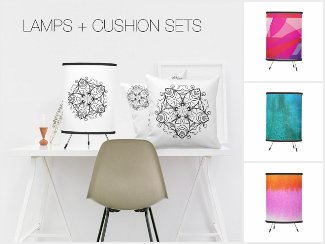 LAMPS & CUSHION SETS