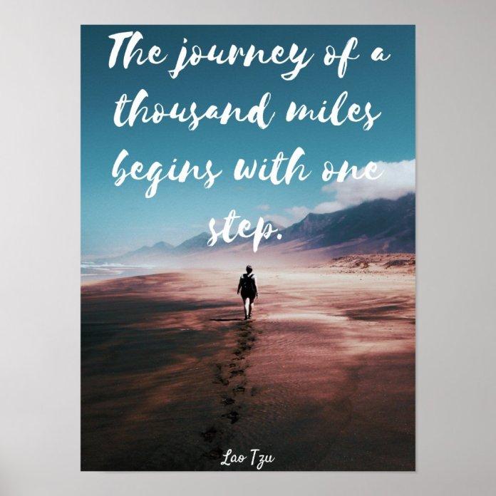 Lao Tzu Inspirational Poster