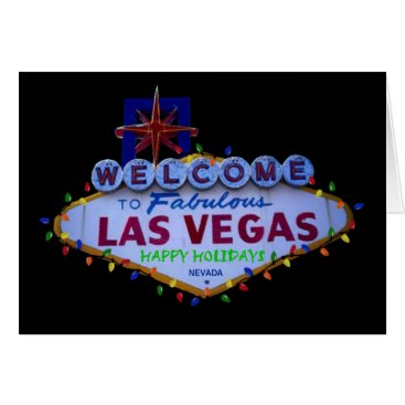 Las Vegas Happy Holidays Lights Card