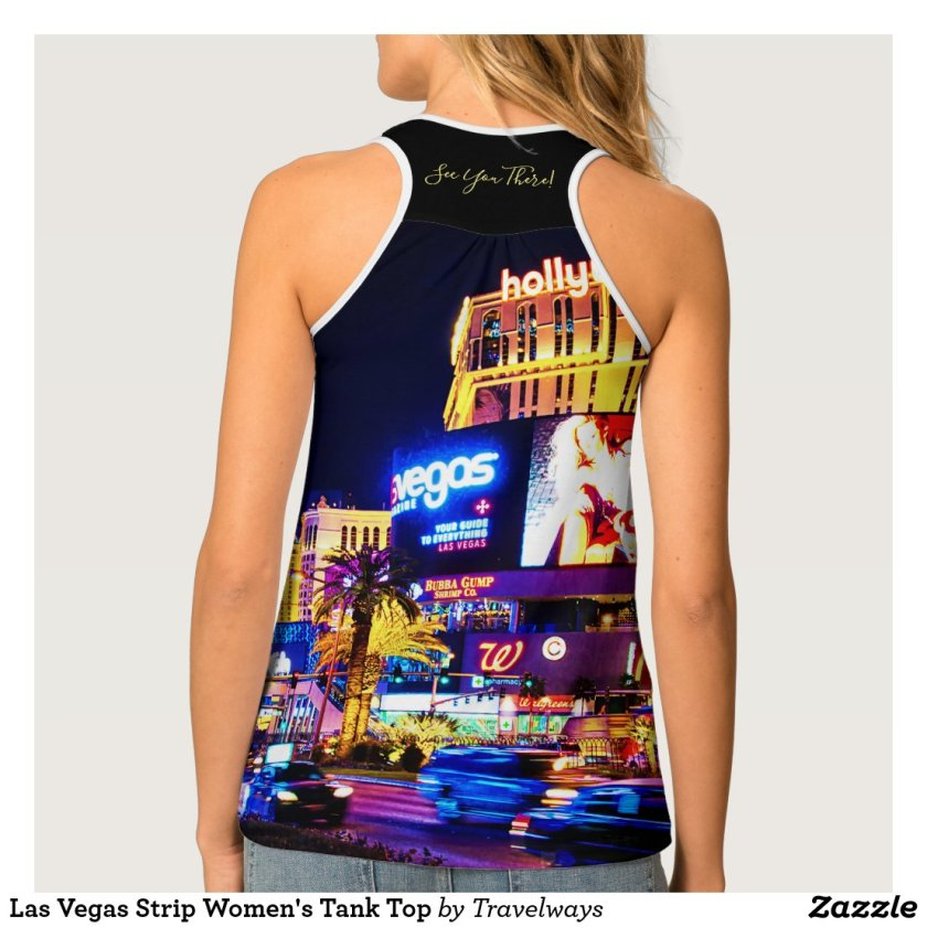 Las Vegas Strip Women's Tank Top back