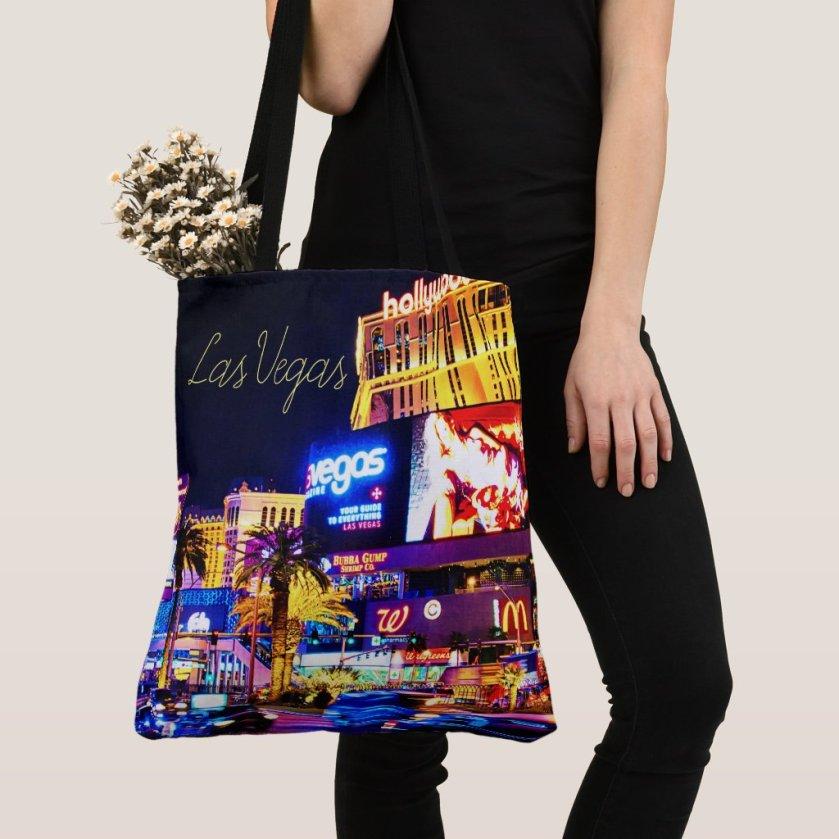 Las Vegas Strip Women's Tank Top Tote Bag