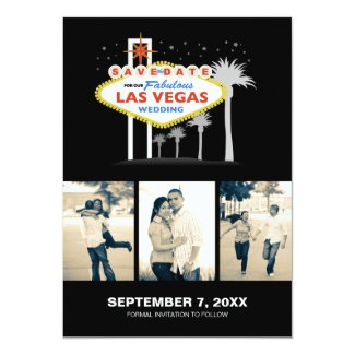 Las Vegas Wedding Save-the-date 5x7 Paper Invitation Card
