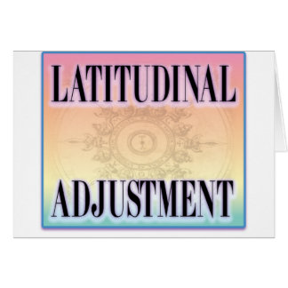 """Latitudinal Adjustment"" Card"