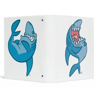 Laughing Cartoon Sharks Binder binder