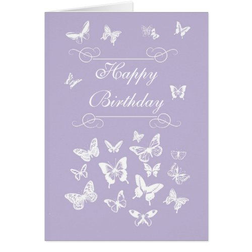 Lavender Butterflies Happy Birthday Irish Blessing