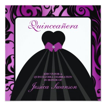 Lavender Formal Gown Sweet Sixteen w/ diamond bow Card