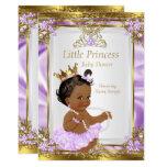 Lavender Gold White Princess Baby Shower Ethnic Invitation