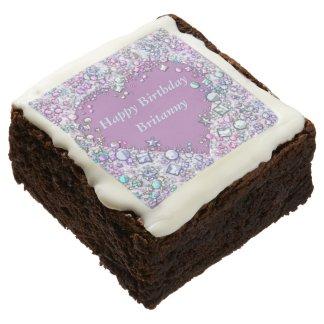 Lavender Heart Jewelled Brownies