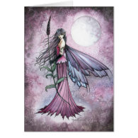 Lavender Moon Mystical Fantasy Fairy Art Card