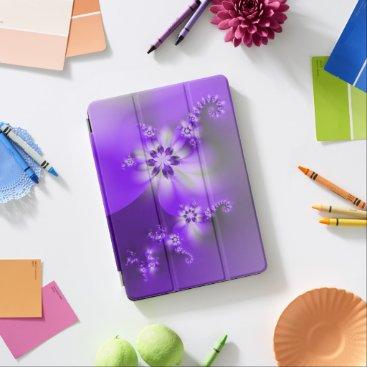 Lavender Purple Blue Violet Orchid Flowers iPad Air Cover