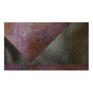 Leather Look Business Cards Black Grey Elegant 3