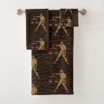 Leather-Look Libra Bath Towel Set