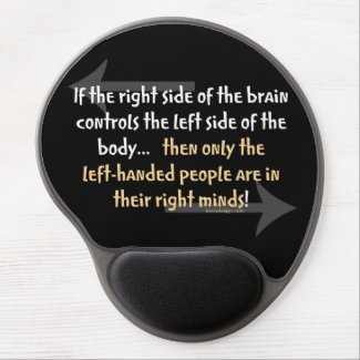 Left-handed people gel mouse pad