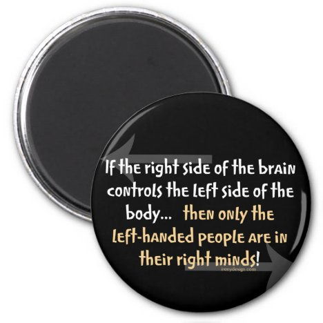 Left-handed people magnet