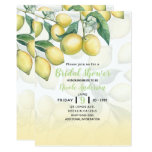❤️ Lemon Branches White & Yellow Country Rustic Invitation