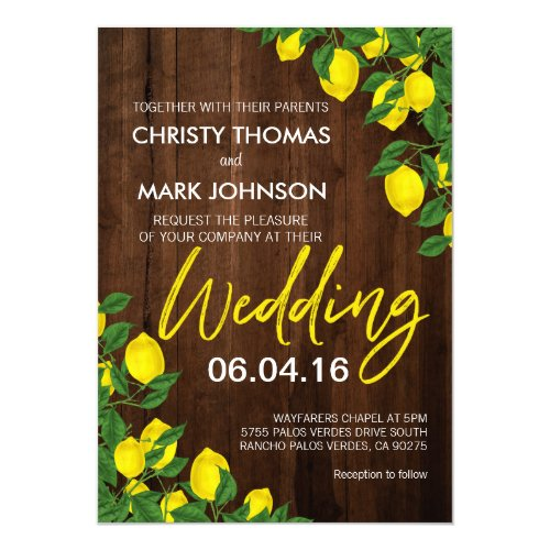 Lemon Wood Summer | Wedding Invitation
