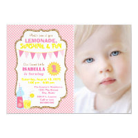 Lemonade 1st Birthday Party Invitations