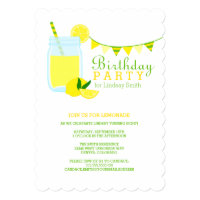Lemonade Birthday Party Card
