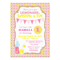 Lemonade Birthday Party Invitations